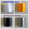 ( 4 color )  70 meters/lot  1.5mm Nylon Satin Cord  for DIY Silicone Baby Teething beaded necklace