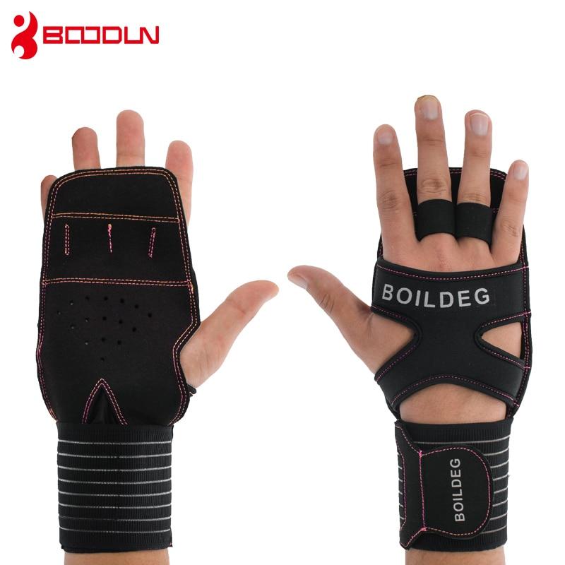 Boodun Gloves Men Body Building Dumbbell Fitness AntiSlip Weight Lifting Sports Strong Gym Women Training Gloves