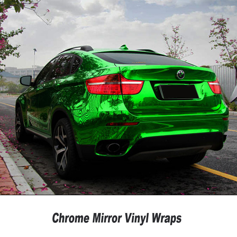 Stretchable Chrome Mirror Green Vinyl Wrap With Air Bubble Free Car Wrap Foil Chrome Green Wrap Film Size:1.52*20M/Roll high quality stretchable chrome black vinyl wrap sheet roll for car wrapping air free bubble