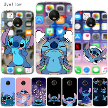 Uyellow Cartoon Cute Stitches Cover For Motorola G4 G5 G5S G6 G7 E4 E5 Plus Play Case Moto Power Silicone Soft TPU Coque