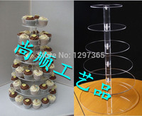 Free Shipping 6 Tier New eco friendly princess acrylic cupcake stand tree decoration