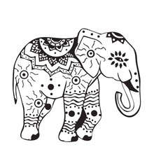 EHOME Indian Elephant Wall Stickers In The Living Room Animals Interior Design Wall Decals Vinyl Art Sticker