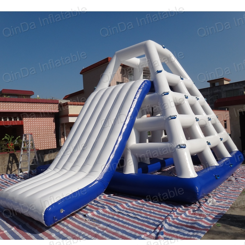 Giant inflatable floating water slide / inflatable water slide for sale giant pvc commercial inflatable water slide with pool for sale