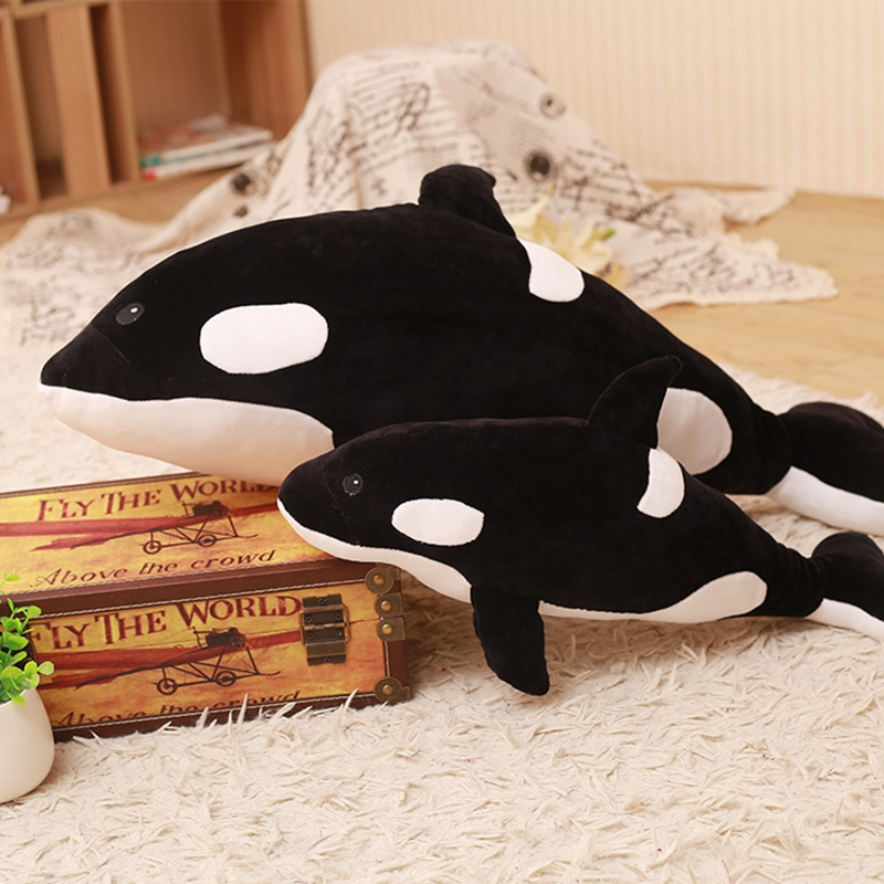 1pcs 50/80/120cm Cute Ocean Animals Soft <font><b>Killer</b></font> <font><b>Whale</b></font> <font><b>Plush</b></font> Toy Stuffed Doll Birthday Presents For Children Kids image
