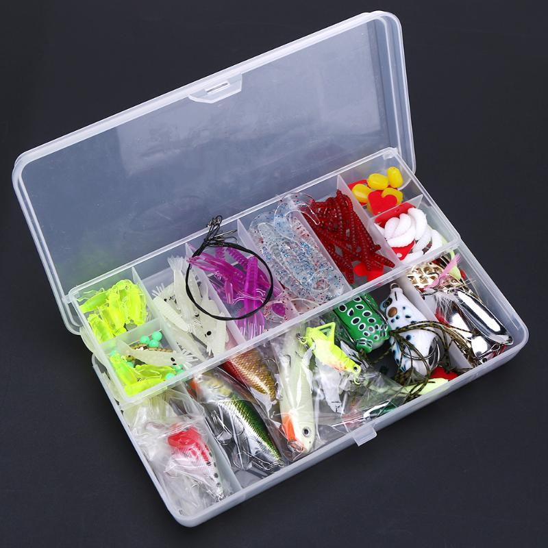 136Pcs Luminous Fishing Lures Bait Sequins Plastic Metal Fishing Tackle Lures Kit With Fishing Tackle Box Accessories peche super value 101pcs almighty fishing lures kit with mixed hard lures and soft baits minnow lures accessories box