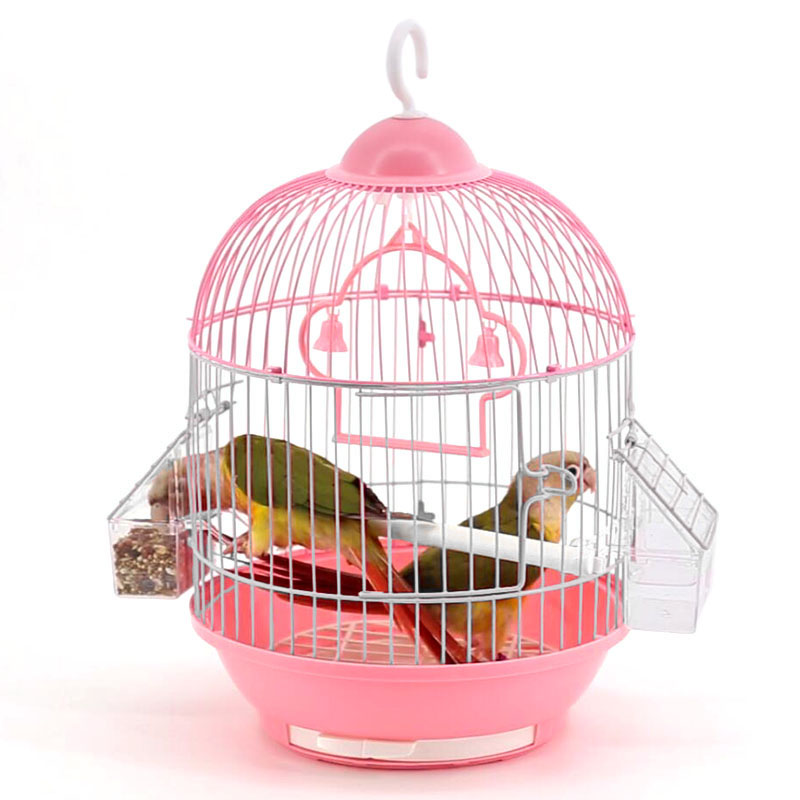 Small Bird Cage Round Pet Parrot Finch Hanging Birdcage