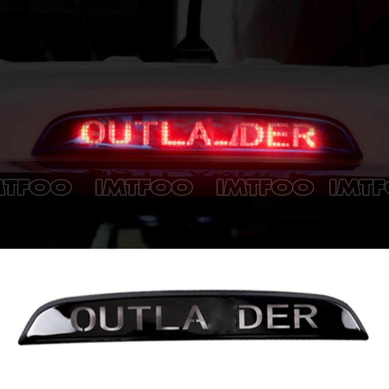 US $18 47 27% OFF FOR 2013 2014 2015 2016 2017 MITSUBISHI OUTLANDER REAR  BRAKE LIGHTS STOP LAMP TRIM COVER STICKER EXTERIOR MOLDING CAR STYLING-in  Car