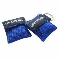 500 шт. CPR ключ с ртом в рот дыхательные маски уход за кожей лица щит брелок для первой помощи применение синий нейлоновый чехол