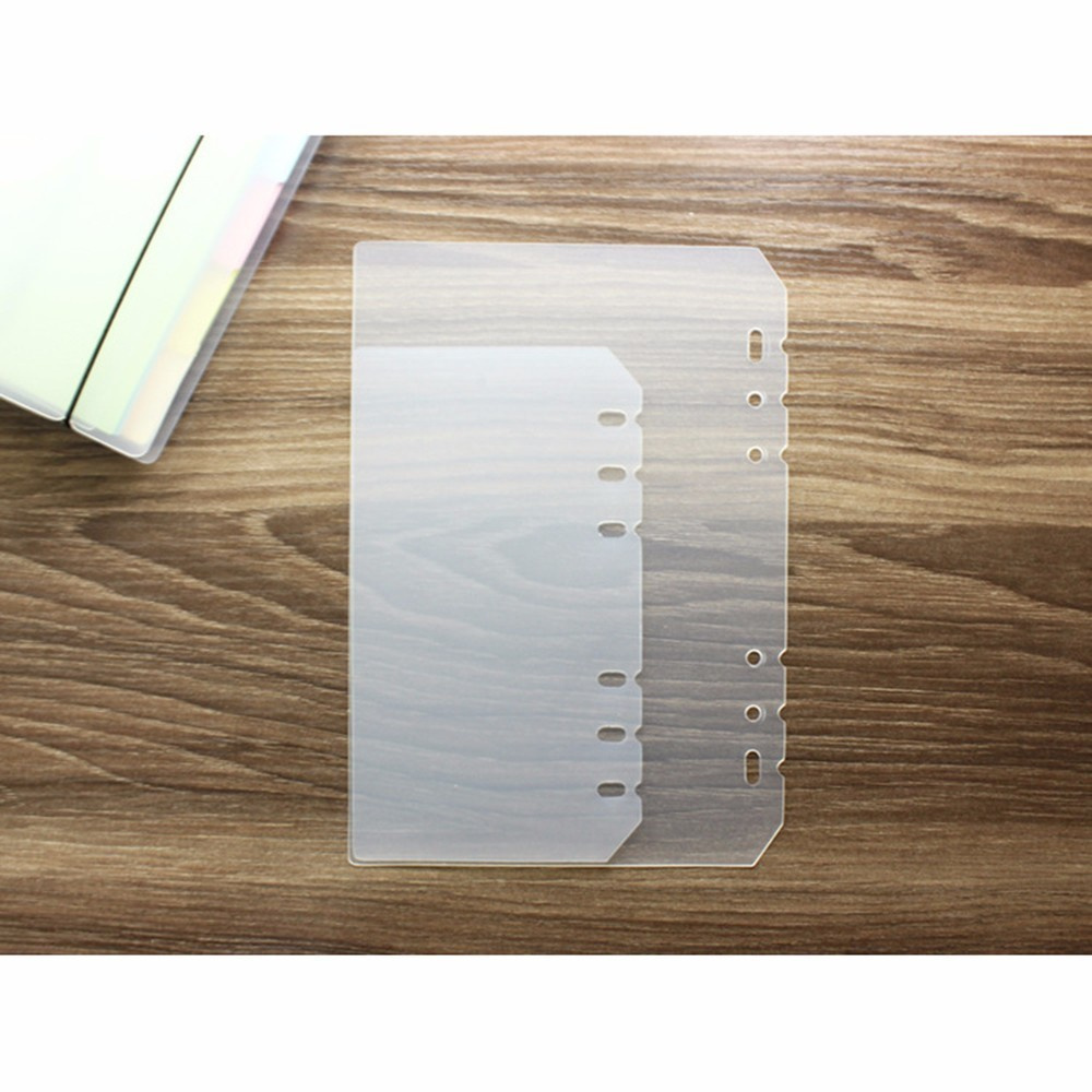 2 Pcs/set Elastic Transparent Seperator Base Plate For A5 A6 A7 Spiral Rings Notebook 6 Hole Loose Leaf Diary Journal Wholesale