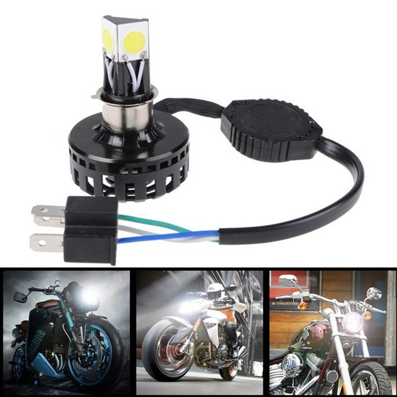 h6 h4 led motorcycle headlight hi lo beam 6000k 2000lm h4 led motorbike headlamp high low. Black Bedroom Furniture Sets. Home Design Ideas