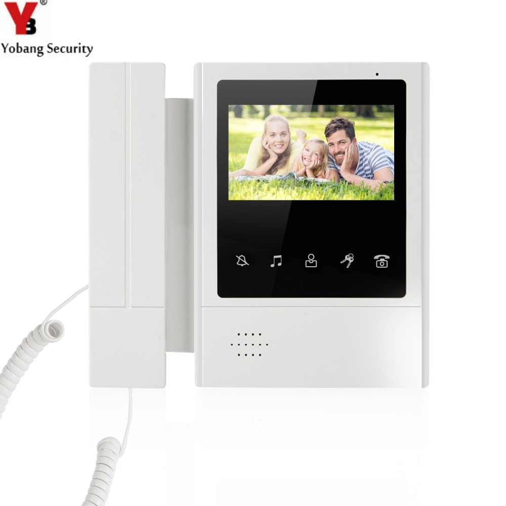 YobangSecurity 4.3 Inch Color TFT LCD Screen Monitor Wired Video Door Entry System Video Door Phone Doorbell Intercoms Monitor yobangsecurity black 7 inch color tft lcd screen monitor wired video doorbell camera system for house office apartment