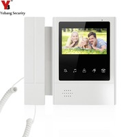 YobangSecurity 4 3 Inch Color TFT LCD Screen Monitor Wired Video Door Entry System Video Door