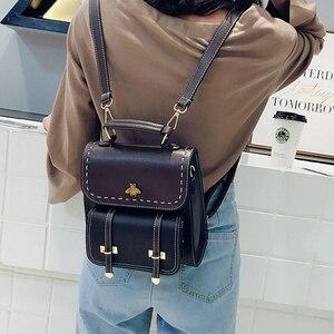 Image 4 - Youda กระเป๋าเป้สะพายหลังผู้หญิงสีการจับคู่วัสดุ PU กระเป๋านักเรียน MINI อเนกประสงค์สุภาพสตรีกระเป๋าเป้สะพายหลังแฟชั่นกระเป๋าไหล่