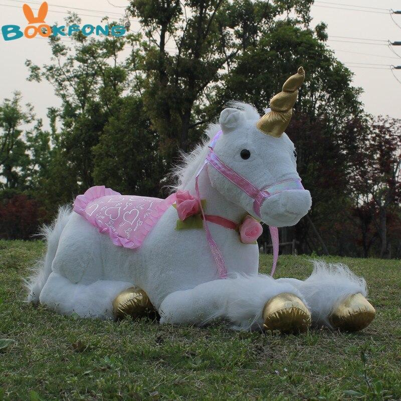85cm Jumbo blanc licorne jouets en Peluche géant licorne Animal en Peluche cheval jouet doux Unicornio Peluche poupée cadeau enfants accessoires de Photo - 2