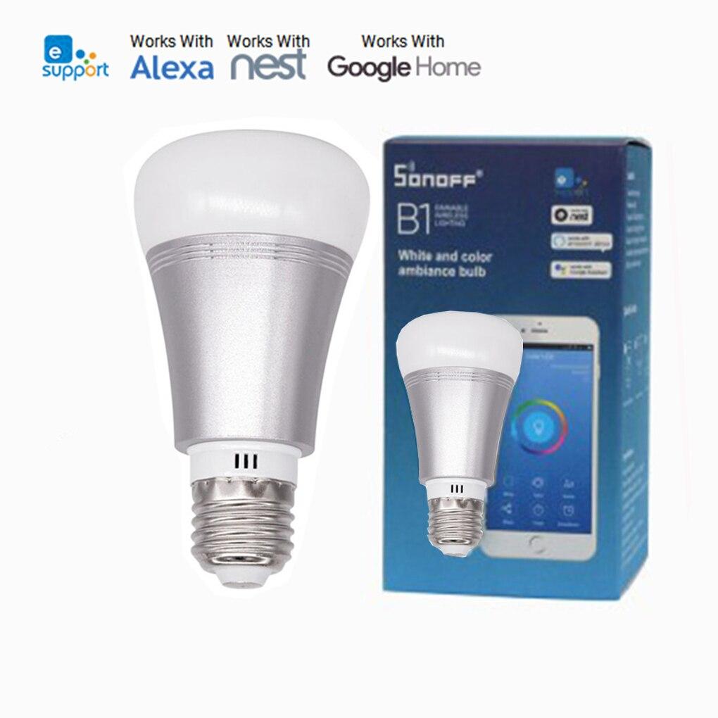Sonoff B1 Led Ampoule Gradateur Intelligent Wifi Ampoules RGB Couleur Lumière Ampoule Minuterie À Distance pour Android IOS Domotique