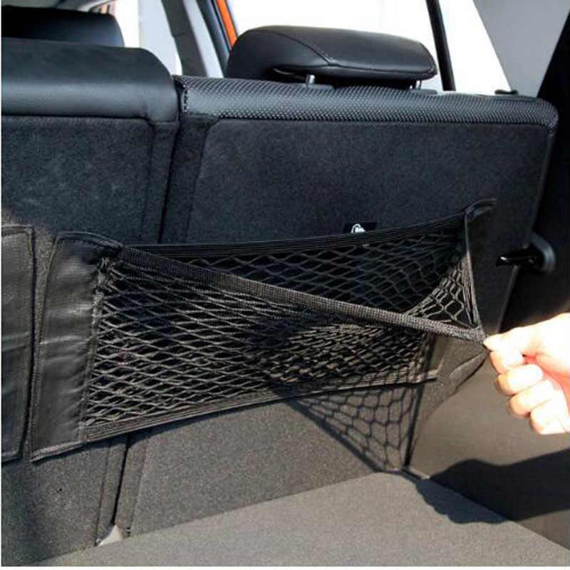 Amazing Car Seat Back Storage Mesh Net Bag Car Magic Sticking Holder Cjindustries Chair Design For Home Cjindustriesco