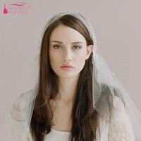Shoulder length Wedding Veil Ivory Crystal Wedding Veils velos de novia Bohemian Bridal Veils V016