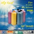 500 ml * 8 Farbstoff Eco Lösungsmittel Tinte anzug für Epson druckkopf Drucker/flachbettdrucker  für holz Leder metall keramik etc