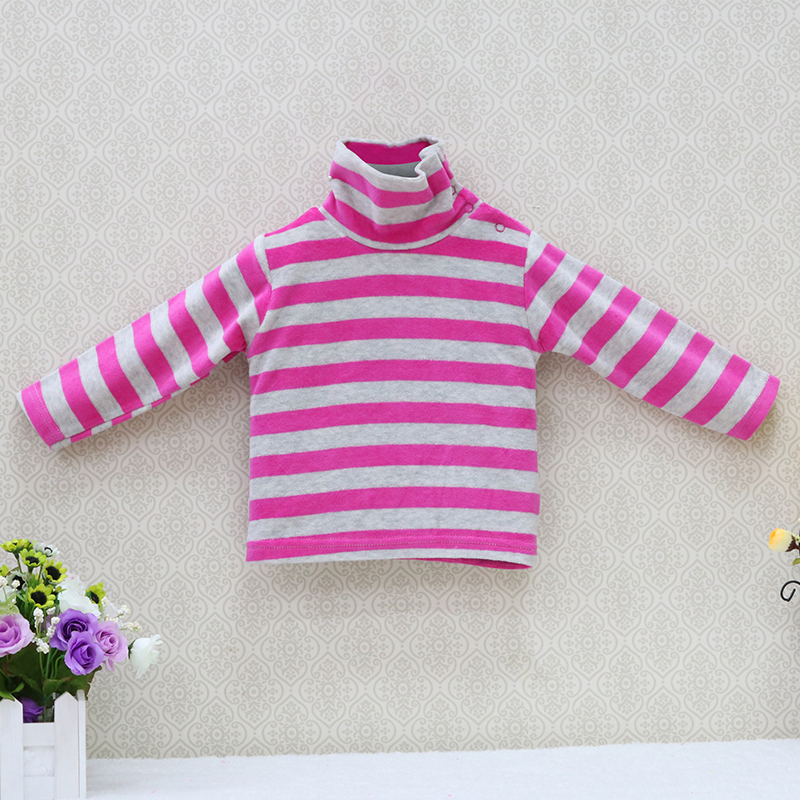 Little-Q-baby-turtle-neck-velour-blouse-5-pcslot-striped-spring-and-autumn-unisex-shirts-kids-long-sleeve-rivets-button-clothes-5