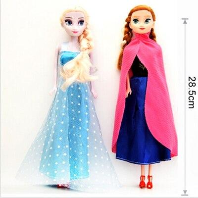 2018 Original boneca Princesa elsa Anna Rainha da Neve para Crianças Meninas Brinquedos Presentes de Natal de Aniversário Para Crianças Bonecas de Sharon