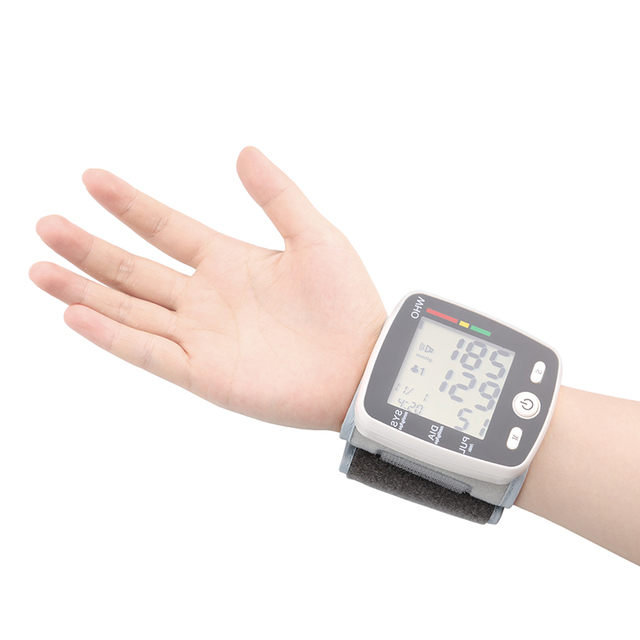 Rechargeable Health Care Germany Chip Automatic Wrist Digital Blood Pressure Monitor Tonometer Meter  Measuring And Pulse Rate 3