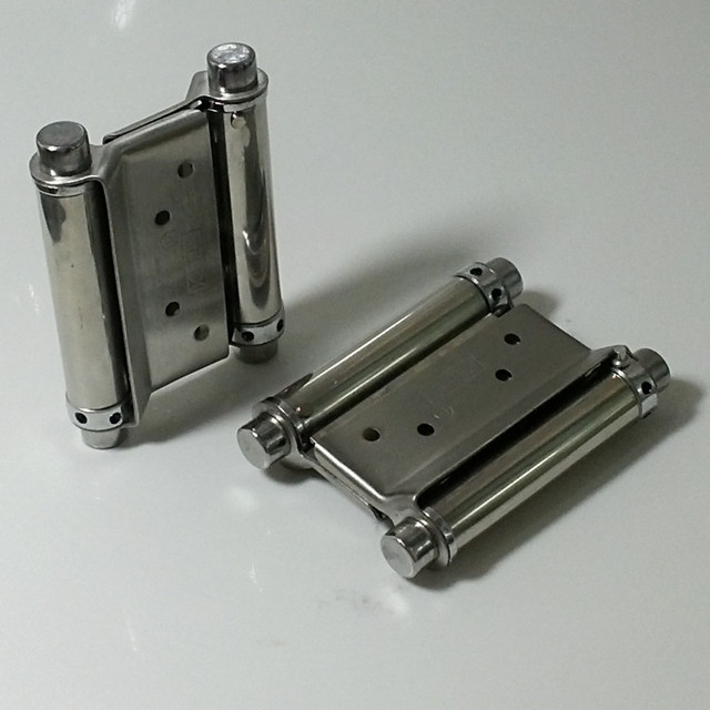 Duplex Stainless Steel Double Spring Hinge Free Door Hinge Door Closer Hinge  6 Inch Spring Door