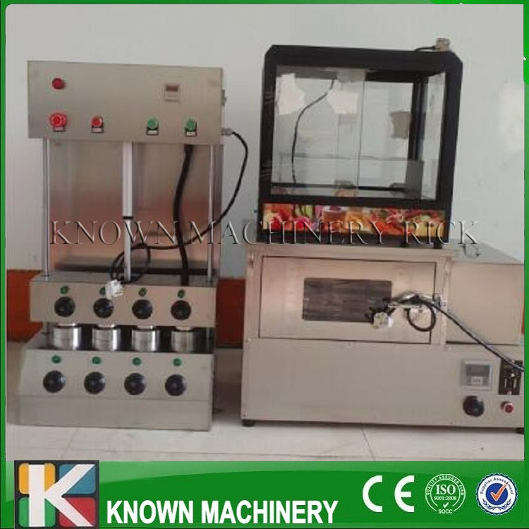 Commercial Stainless Steel Electric Pizza Cone Machine/pizza cone oven and display table production line