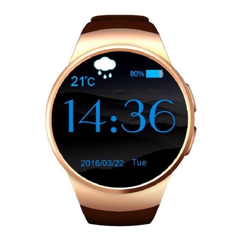 EastVita KW18 Bluetooth montre intelligente ios android appareils portables prise en charge SIM TF carte Smartwatch moniteur de fréquence cardiaque pk dz09 r15