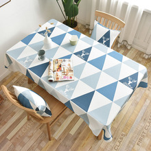 Modern Geometric Print Tablecloth Rectangular Dining Tea Table Cover Cloth Home Kitchen Decoration Tafelkleed Wedding
