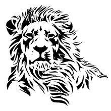 17.2*17CM Wild Mighty Lion Vinyl Car Stickers Western Styling Tuck Car Body Decal Black/Silver S1 2600