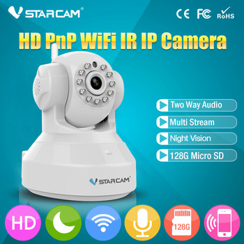 VStarcam C7837WIP 720P HD Wireless Camera Pan Tilt IP Network WiFi Camera with Two-Way Audio and Night Vision Baby Monitor