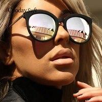 Cat Eye Mirror Classic Vintage Sunglasses Brand Designer Metal Frame Eyewear Men Or Men UV400