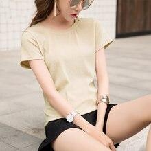 Женская Блестящая футболка с люрексом Повседневная однотонная