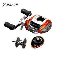 YUMOSHI Right or Left hand Baitcasting Reel 12+1BB 6.3:1 Bait Casting Fishing Reel Magnetic brake Water Drop Wheel Coil