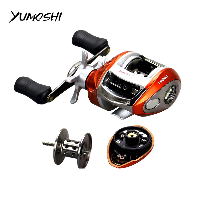 YUMOSHI Right or Left hand Baitcasting Reel 12+1BB 6.3:1 Bait Casting Fishing Reel Magnetic brake Water Drop Wheel Coil 12 1bb left right hand bait casting fishing reel 6 3 1 baitcasting reel magnetic brake system fish wheel pesca lyw 013