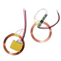 New Wireless Charging Module Power Supply Coil Charger For Mobile Phones MP3 Transmitter Receiver Module Center