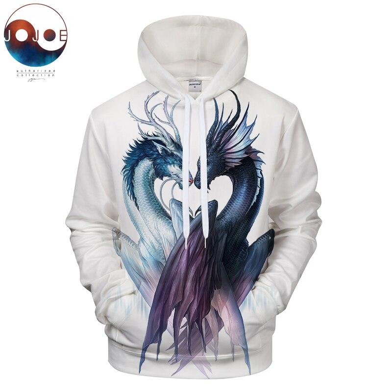 Yin and Yang Dragon by JojoesArt Hoodies 3D Men Women Sweatshirts Brand Pullover Hot Sale Casual Tracksuits Drop ZOOTOP BEAR