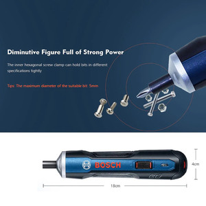 Image 2 - Power Tool Accessories Rechargeable For Bosch Go 3.6V Smart Cordless Screwdriver mini Lithium battery Top Quality Product