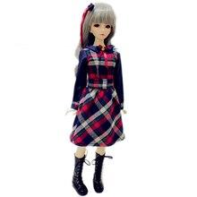wamami 800 Checks Dress Grid Clothes For 1 4 MSD DOD AOD LUTS BJD Doll