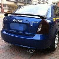 For Hyundai Accent Spoiler ABS Material Car Rear Wing Primer Color Rear Spoiler For Hyundai Accent Spoiler 2008 2013