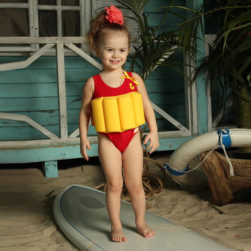 Baby Swimmer Children's bathing suit for the girl red skulls openwork see through cover ups bathing suit