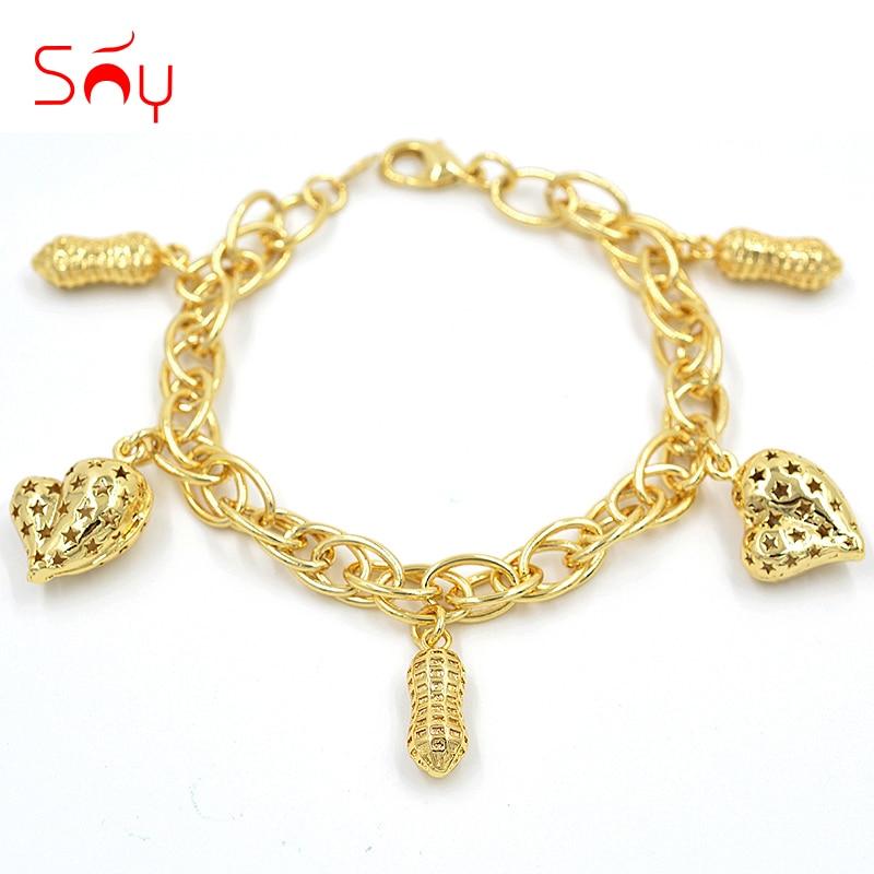 Sunny šperky náramky náramky kouzlo řetězy vysoce kvalitní měděné módní šperky 2019 pro ženy na výročí svatební party