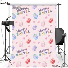 Happy Easter Vinyl Photography Background Backdrop For Newborn Pink Wallpaper New Fabric Flannel Backdrop For photo studio 214