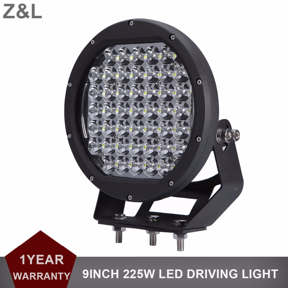 9 ronde 225 W LED Light Work Conduite Brouillard Lampe Offroad 12 V 24 V Auto SUV Ramassage Wagon Camion Bateau Tracteur UTV 4X4 4WD phare