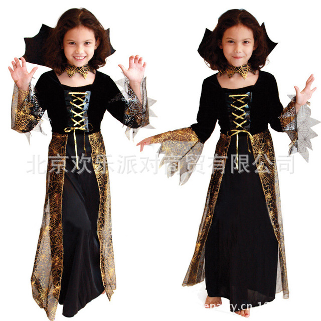 online shop girls halloween costume kids cosplay costume lady spider witch dress makeup party beauty spider female skirt b 5086 aliexpress mobile - Spider Witch Halloween Costume