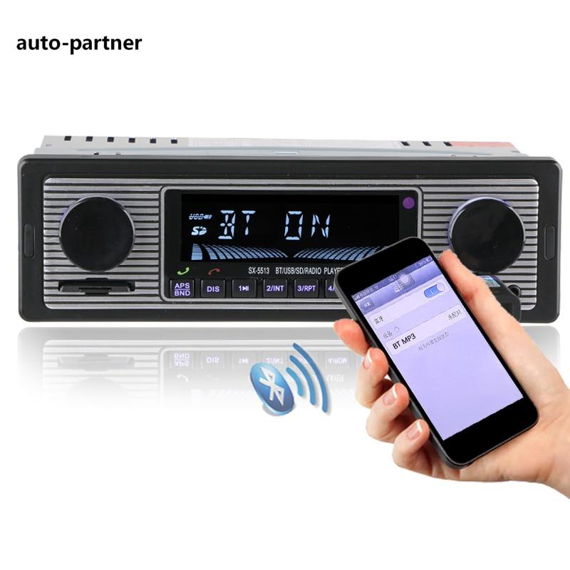 NUOVO 12 V Auto Radio Player Bluetooth Stereo FM MP3 USB SD AUX Audio Auto Electronics autoradio 1 DIN oto teypleri radio para carro