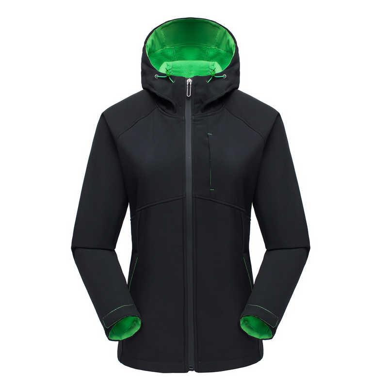 IEMUH Merk Vrouwen Buitensporten Softshell Wandelen Jas Thicken Winddicht Waterdicht Skiën Warming Jassen Trekking Jas HI-Q