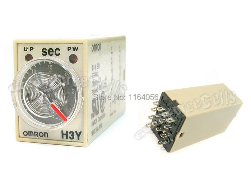 Ac 110v 14 Pins 4pdt 0 5 Second Timer Delay Din Rail Time