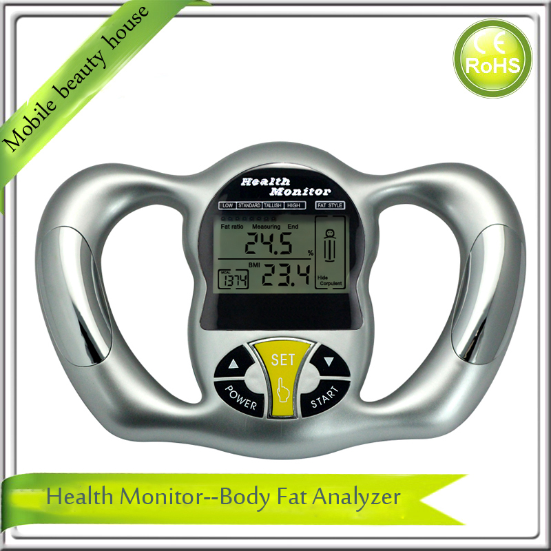hand grasp lcd display electronic body fat measuring measurement ...
