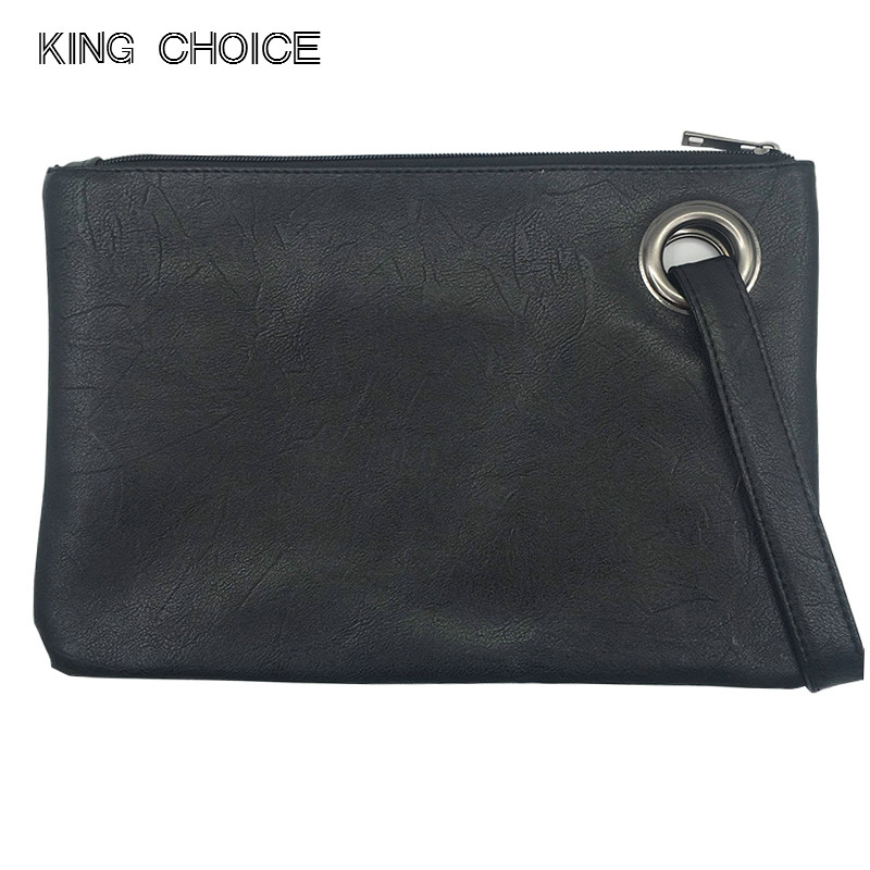 737292d9ac05 Fashion solid women s clutch bag leather women envelope bag clutch evening bag  female Clutches Handbag free shipping